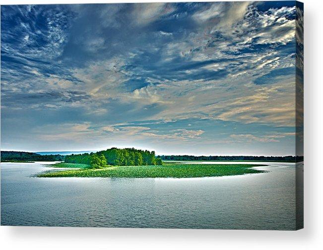 Arkansas Acrylic Print featuring the photograph 1206-9119 Arkansas River At Spadra Park by Randy Forrester