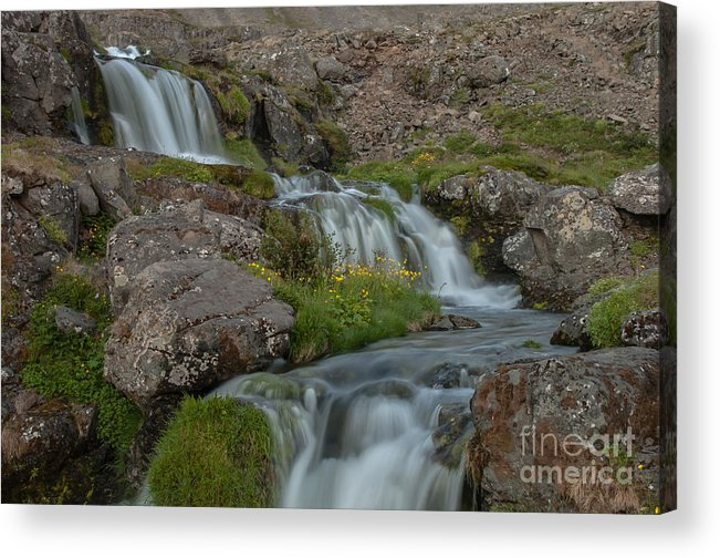 Waterfall Acrylic Print featuring the photograph Waterfall by Jorgen Norgaard