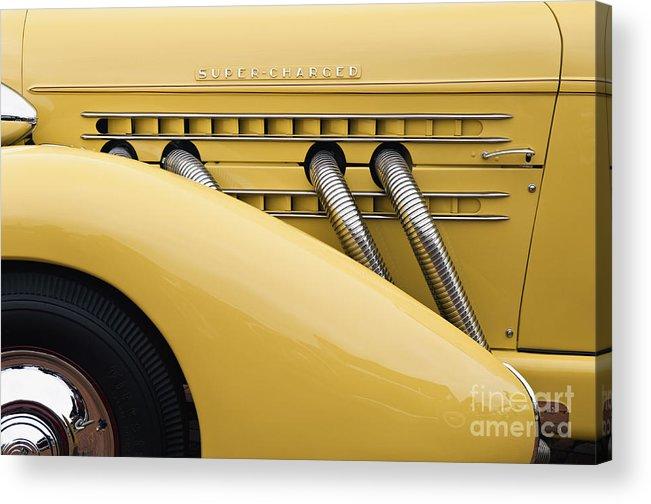 Tire Acrylic Print featuring the photograph 1935 Auburn 851 Sc Speedster Detail - D008160 by Daniel Dempster