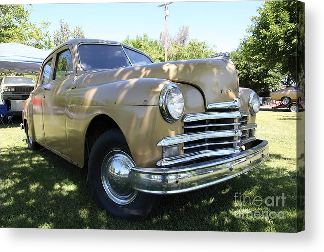 Transportation Acrylic Print featuring the photograph 1949 Plymouth Delux Sedan . 5d16207 by Wingsdomain Art and Photography