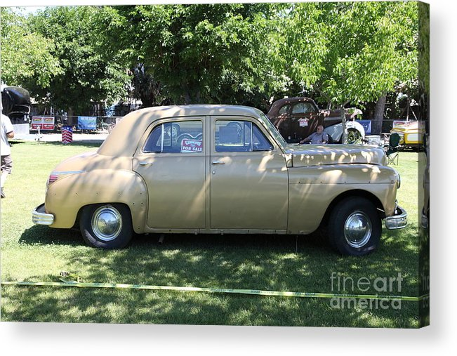 Transportation Acrylic Print featuring the photograph 1949 Plymouth Delux Sedan . 5d16208 by Wingsdomain Art and Photography