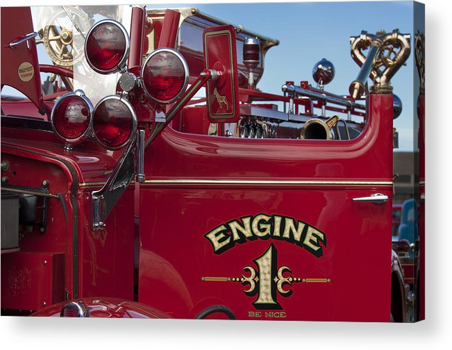 1952 L Model Mack Pumper Fire Truck Acrylic Print featuring the photograph 1952 L Model Mack Pumper Fire Truck 2 by Jill Reger