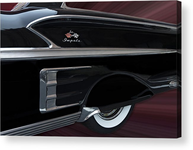 1958 Acrylic Print featuring the photograph 1958 Impala by Susan Candelario