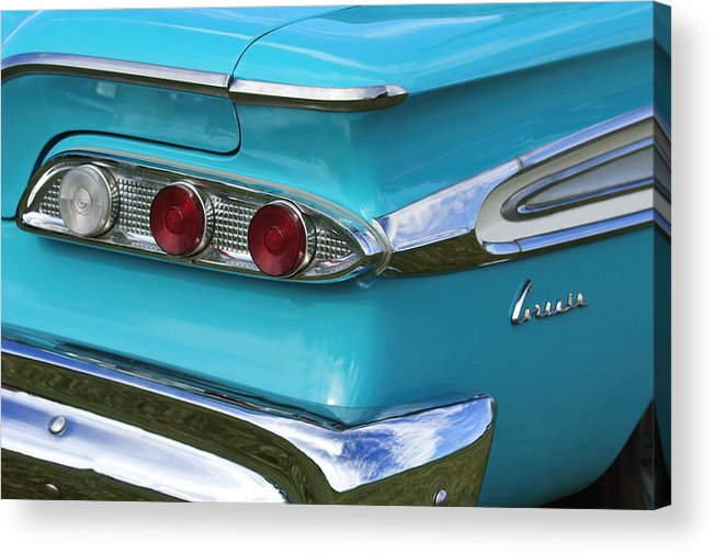 1959 Edsel Corvair Acrylic Print featuring the photograph 1959 Edsel Corvair Taillights by Jill Reger