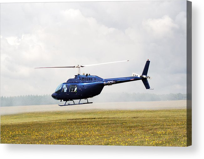 Textron Bell Acrylic Print featuring the photograph 1980 Bell Helicopter Textron Bell 206b by Chris Day