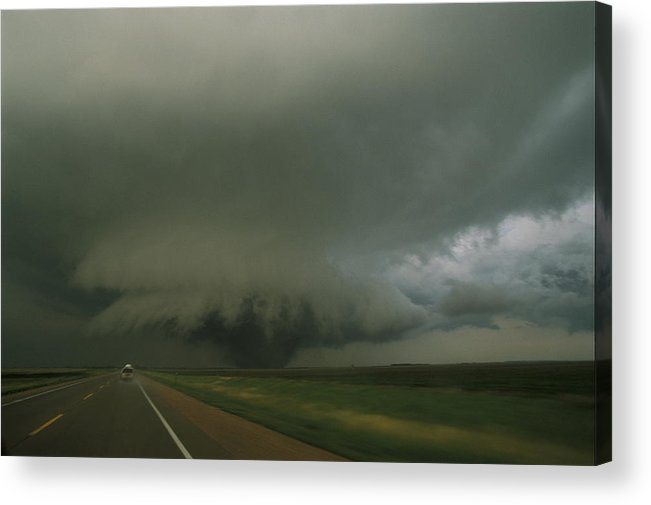 North America Acrylic Print featuring the photograph A Massive F4 Category Tornado Rampages by Carsten Peter