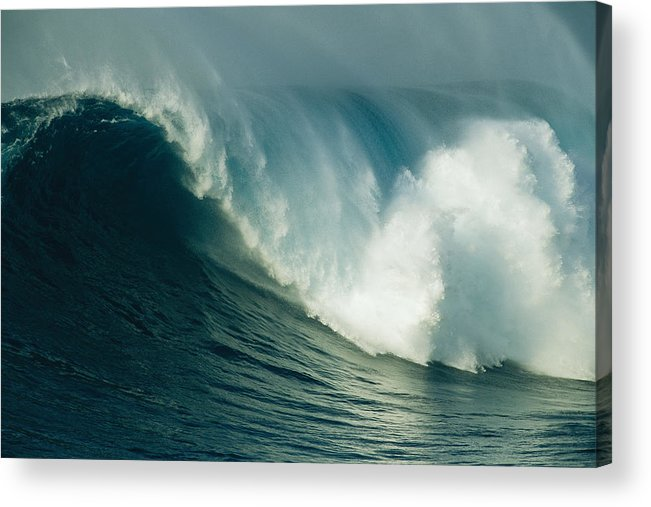 Water Acrylic Print featuring the photograph A Powerful Wave, Or Jaws, Off The North by Patrick Mcfeeley