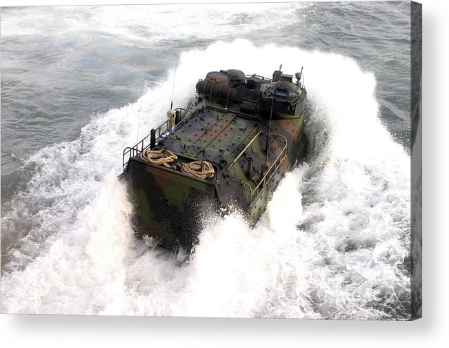 Aav Acrylic Print featuring the photograph An Amphibious Assault Vehicle by Stocktrek Images