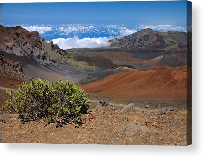 Haleakala Acrylic Print featuring the photograph Haleakala Afternoon by Stephen Vecchiotti