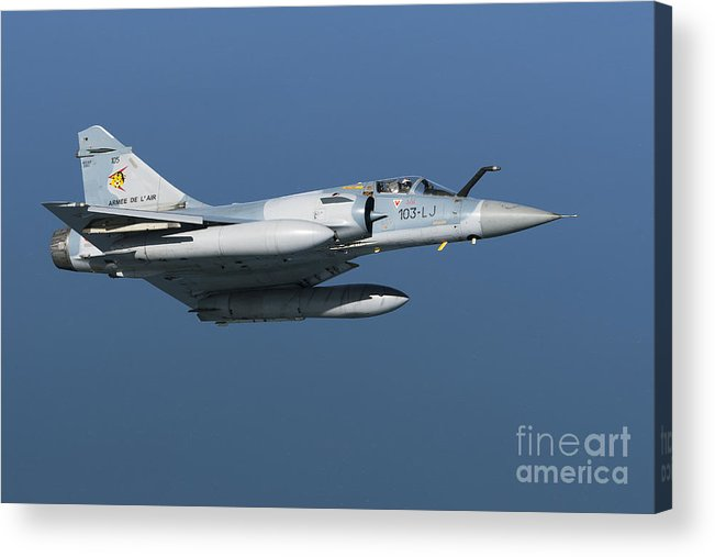 Transportation Acrylic Print featuring the photograph Mirage 2000c Of The French Air Force by Gert Kromhout