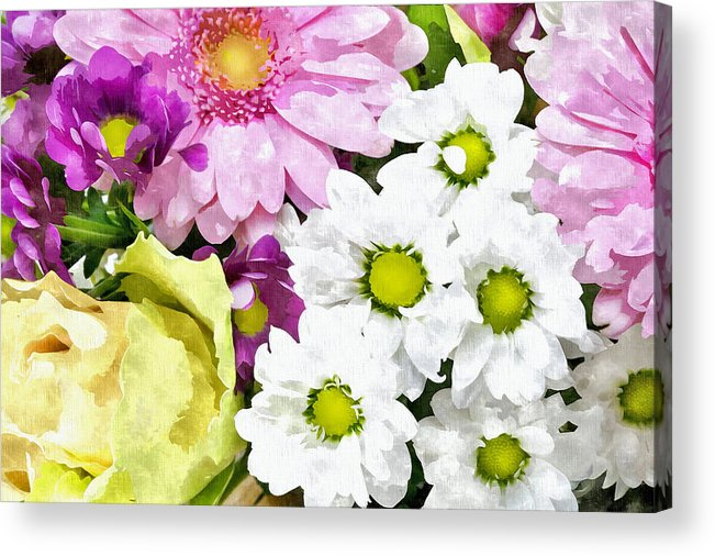 Flowers Acrylic Print featuring the photograph Flowers For The Girlfriend by Aleksandr Volkov