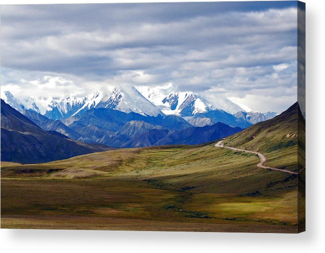 Alaska Denali Mckinley Acrylic Print featuring the photograph Mount Mckinley by Harvey Barrison