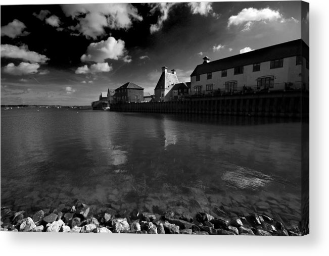 Stour Estuary Acrylic Print featuring the photograph The Stour Estuary Manningtree Essex by Darren Burroughs