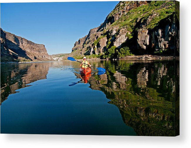 Jessica Florian Acrylic Print featuring the photograph Kayaking by Elijah Weber