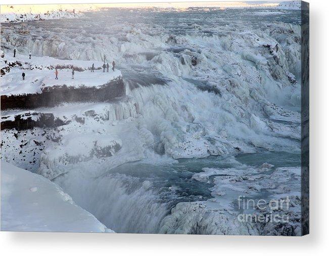 Gullfoss Acrylic Print featuring the photograph Iceland by Milena Boeva