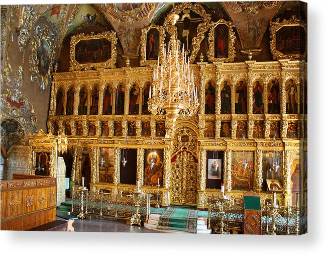 Church Acrylic Print featuring the photograph Inside The Old Russian Orthodox Church by Aleksandr Volkov