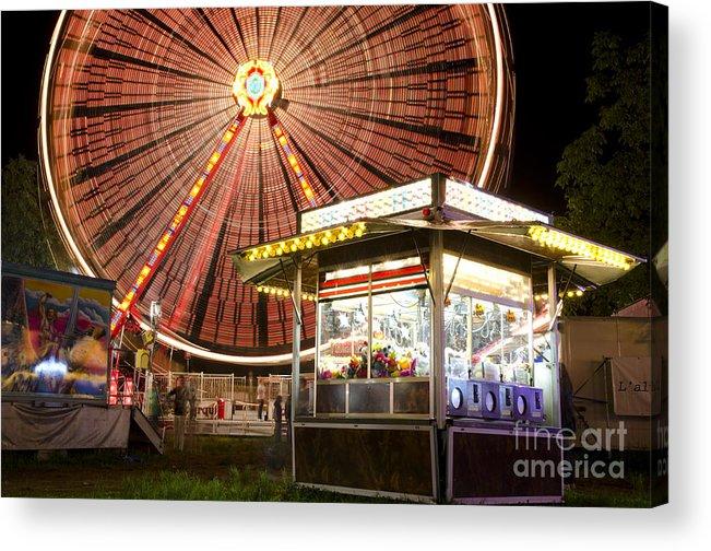 Amusement Park Acrylic Print featuring the photograph Amusement Park by Mats Silvan