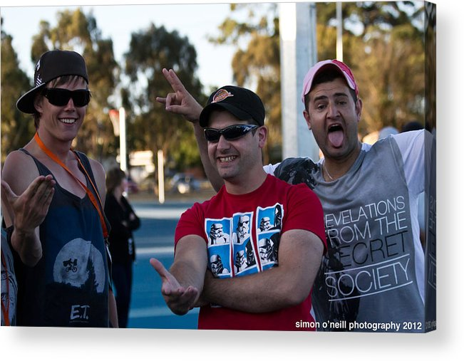 Deaf Acrylic Print featuring the photograph Australian Deaf Games 2012 by Edan Chapman