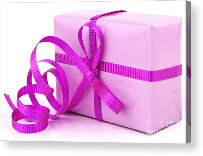 Gift Acrylic Print featuring the photograph Pink Gift by Blink Images