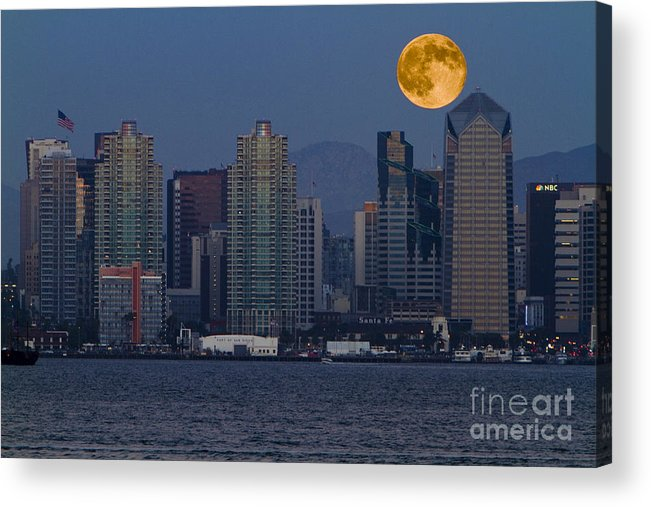 Blue Acrylic Print featuring the photograph 7992 by Daniel Knighton