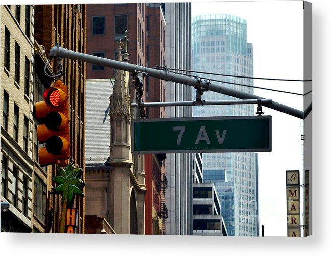 New York Acrylic Print featuring the photograph 7th Avenue by Pravine Chester