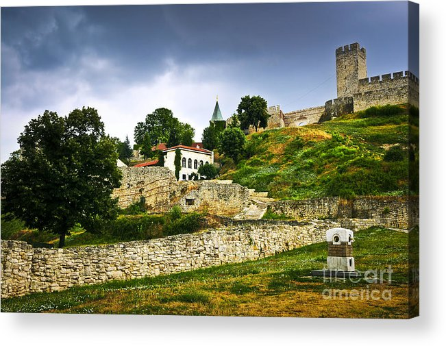 Kalemegdan Acrylic Print featuring the photograph Kalemegdan Fortress In Belgrade by Elena Elisseeva