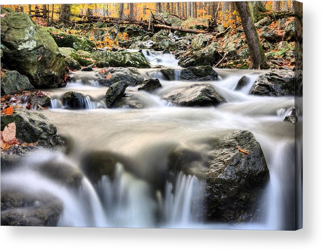 Cunningham Falls Acrylic Print featuring the photograph A Rocky Road by JC Findley
