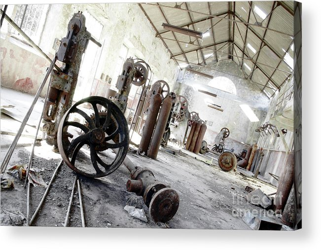 Abandoned Acrylic Print featuring the photograph Abandoned Factory by Carlos Caetano