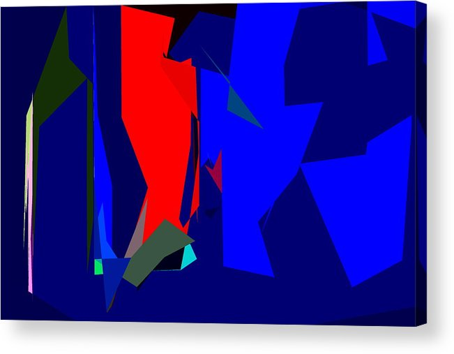 Abstract Acrylic Print featuring the photograph Abstract 25 by Burney Lieberman