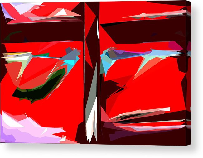 Abstract Acrylic Print featuring the photograph Abstract 30 by Burney Lieberman