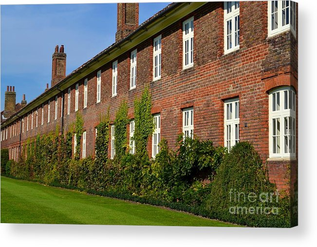 Terrace Acrylic Print featuring the photograph All In A Row by Helen Esdaile