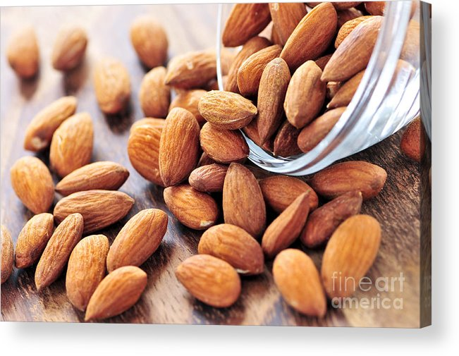 Almond Acrylic Print featuring the photograph Almonds by Elena Elisseeva