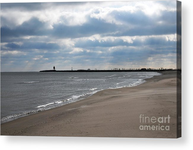 Beach Acrylic Print featuring the photograph Along The Shore by Dan Holm