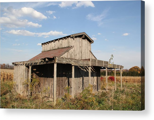 Shed Acrylic Print featuring the photograph Amish Shed #3 by Donna Bosela