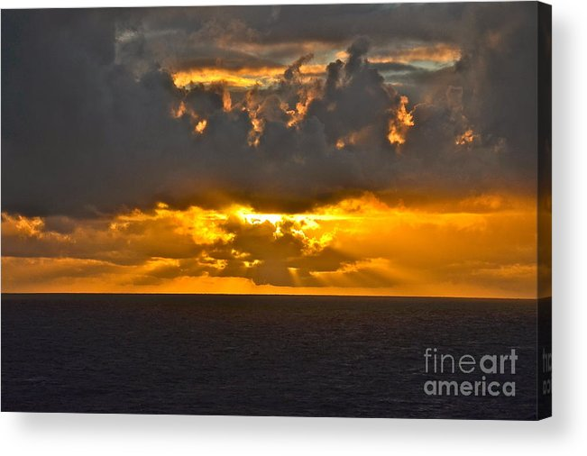 Sunset Acrylic Print featuring the photograph Another Caribbean Sunset by Carol Bradley