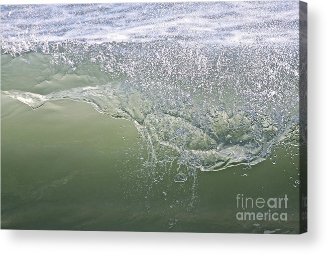 Sea Acrylic Print featuring the photograph Aqua Action by Bev Veals