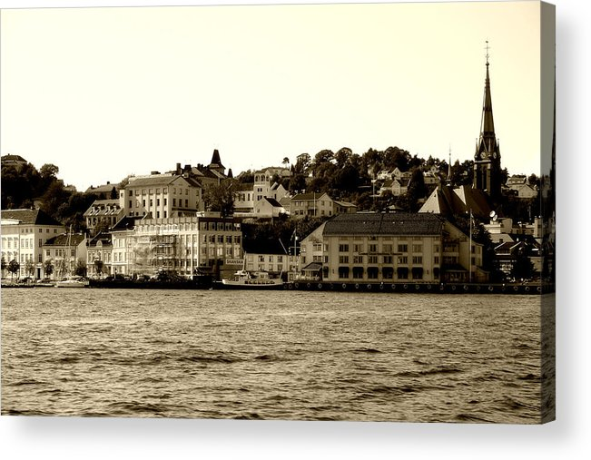 Architecture Acrylic Print featuring the photograph Arendal Cityscape by Nina Fosdick