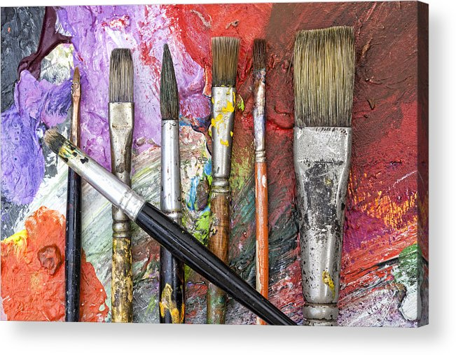 Art Acrylic Print featuring the photograph Art Is Messy 6 by Carol Leigh