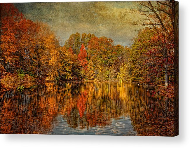 Autumn Acrylic Print featuring the photograph Autumn - Landscape - Tamaques Park - Autumn In Westfield Nj by Mike Savad