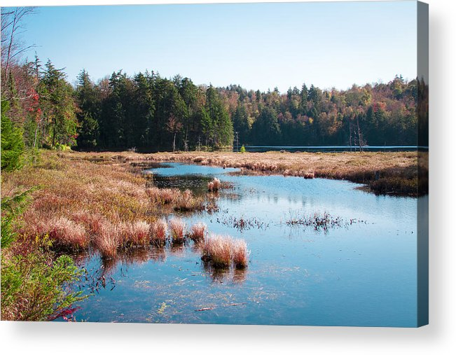 The Adirondacks Acrylic Print featuring the photograph Adirondack Lake 2 by David Patterson