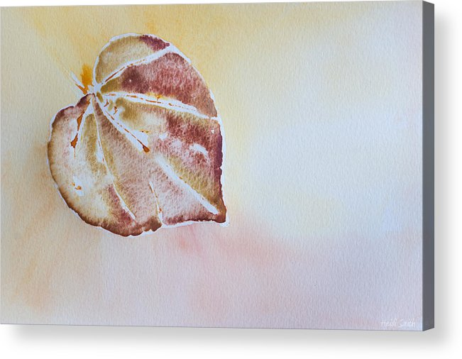 Watercolor Acrylic Print featuring the painting Autumn Shimmer by Heidi Smith