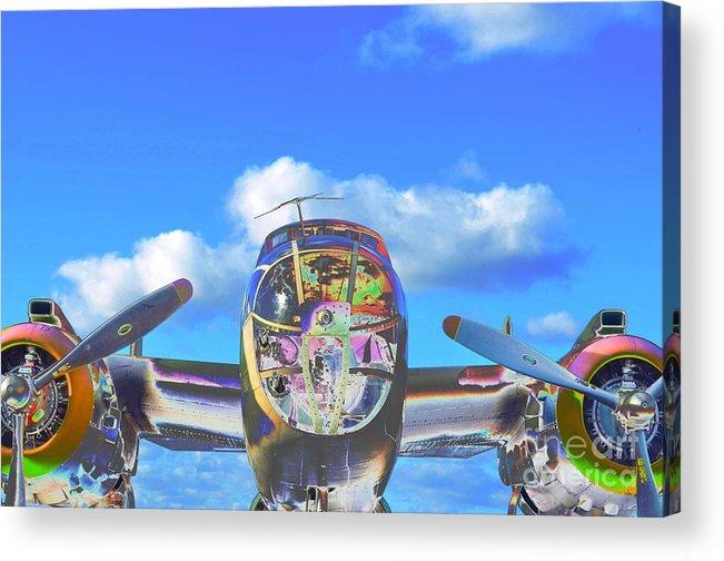 North American B-25j Mitchell Acrylic Print featuring the photograph B-25j Jazzed by Lynda Dawson-Youngclaus