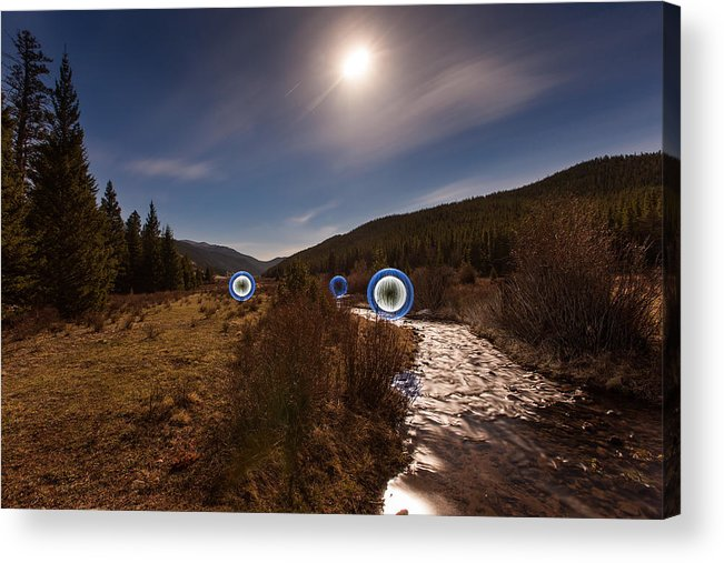 Balls Acrylic Print featuring the photograph Balls In The Moonlight by Richard Steinberger