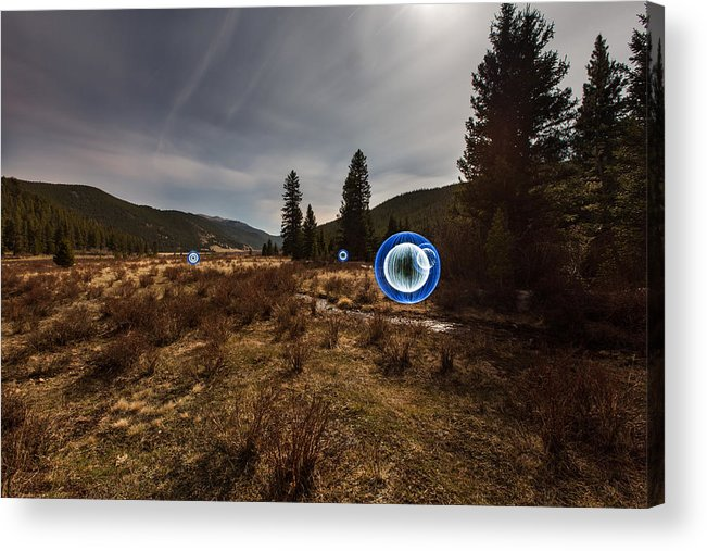 Balls Acrylic Print featuring the photograph Balls Of Light In A Field by Richard Steinberger