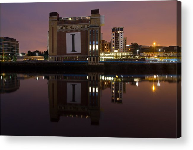 River Tyne Acrylic Print featuring the photograph Baltic At Night by David Pringle