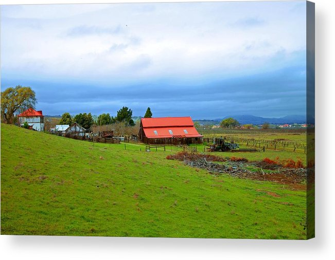 Livermore California Acrylic Print featuring the photograph Barn In Livermore by Joe Fernandez