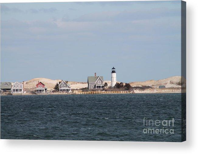 Barnstable Harbor Light Cape Cod Acrylic Print featuring the photograph Barnstable Harbor Lighthouse by John Doble