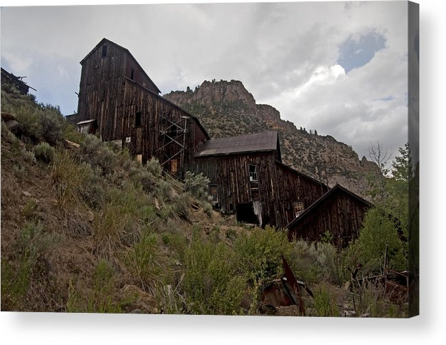 Gost Towns Acrylic Print featuring the photograph Bayhorse Mill by Eric Nelson