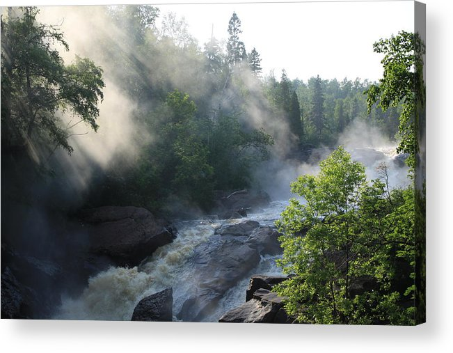Acrylic Print featuring the photograph Beaver River Fog4 by Joi Electa