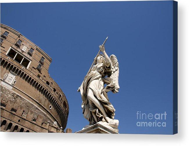 Works Acrylic Print featuring the photograph Bernini Statue On The Ponte Sant Angelo by Bernard Jaubert